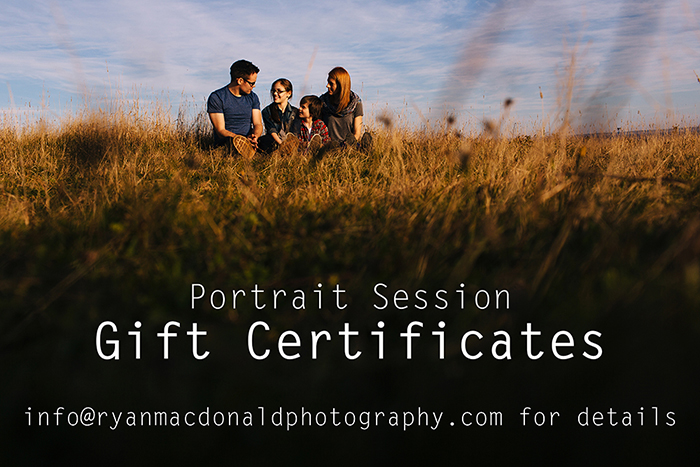 Family Portrait Session Gift Certificates