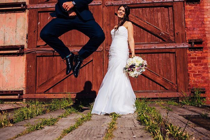 Alicia + Curtis - Esquimalt Backyard Wedding